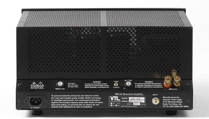 Mb 125 Monoblock Vtl Amplifiers Inc